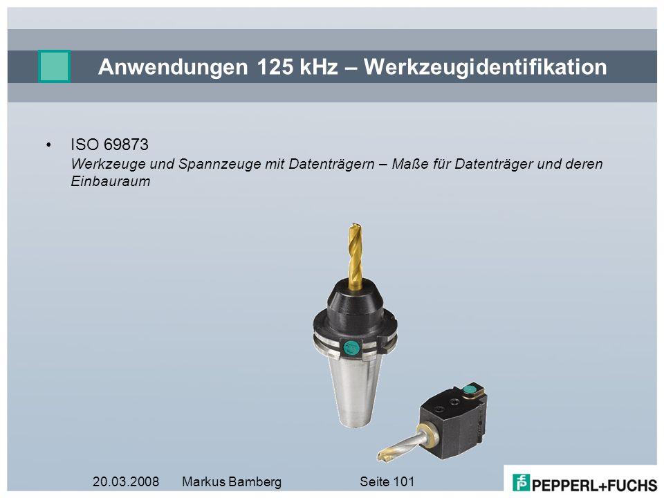 Anwendungen 125 kHz – Werkzeugidentifikation