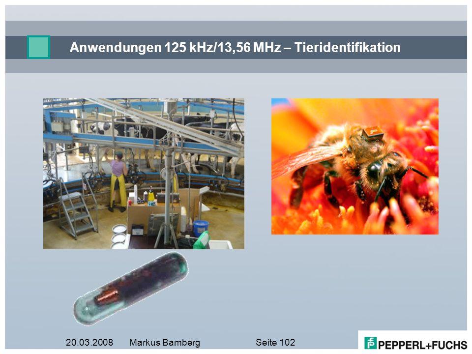 Anwendungen 125 kHz/13,56 MHz – Tieridentifikation