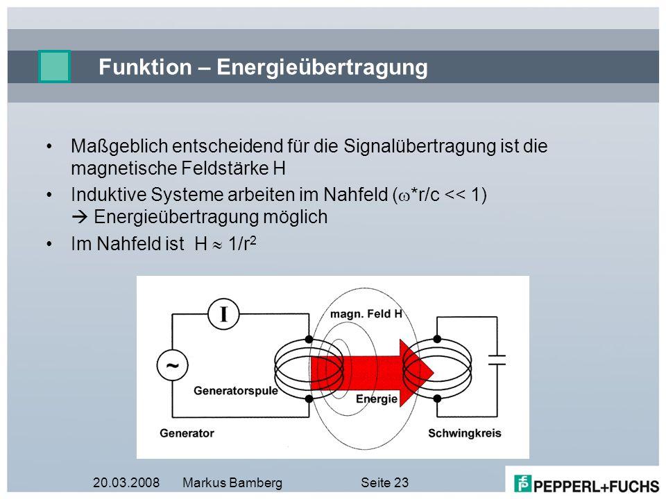Funktion – Energieübertragung