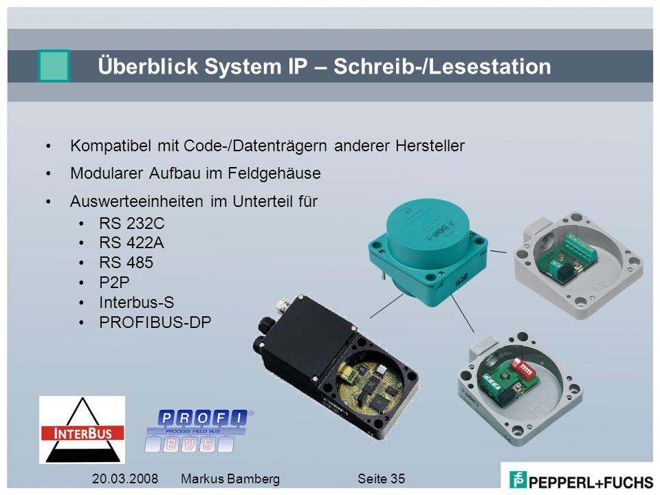 Überblick System IP – Schreib-/Lesestation