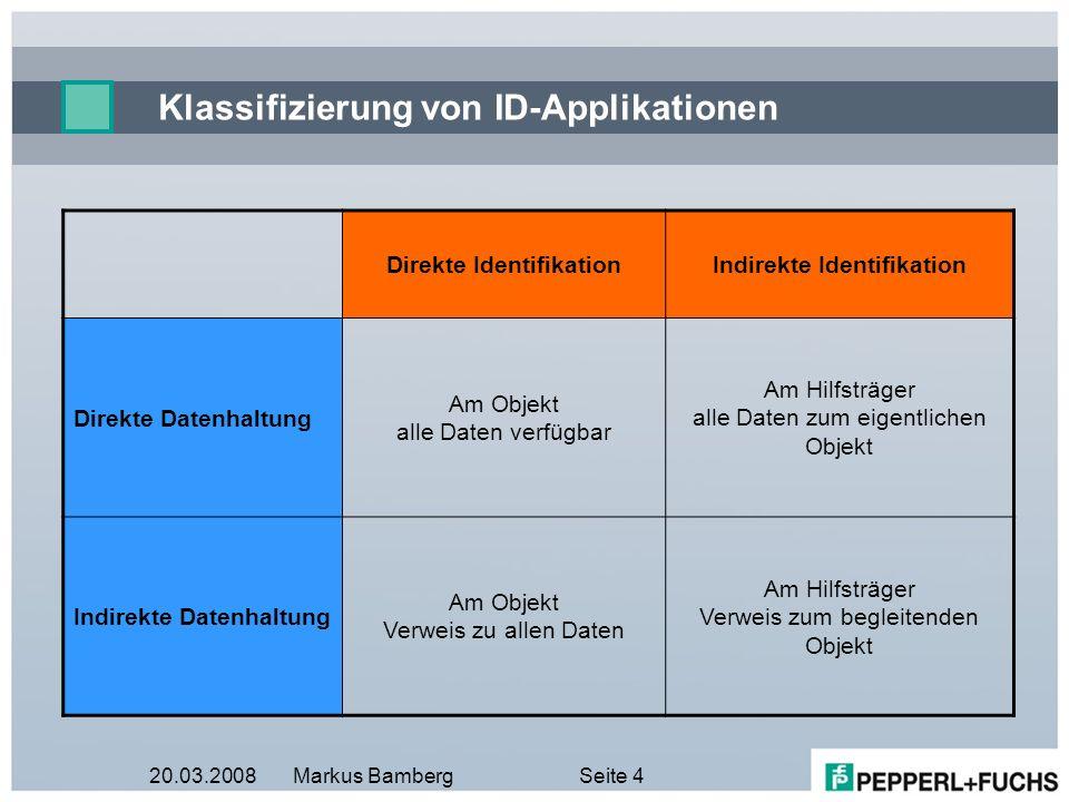 Klassifizierung von ID-Applikationen