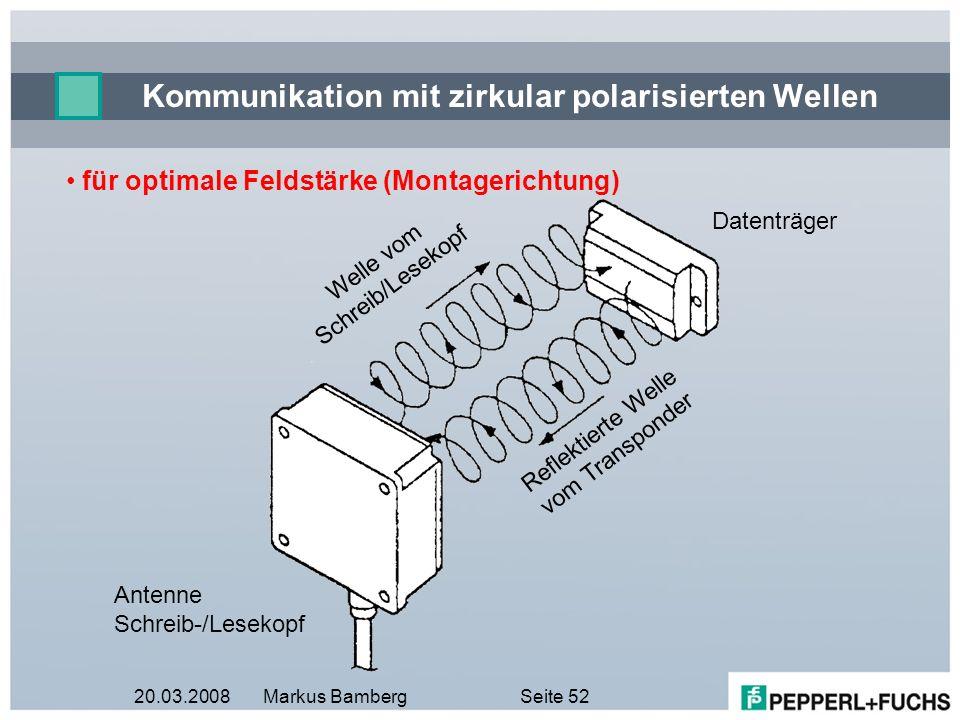Kommunikation mit zirkular polarisierten Wellen