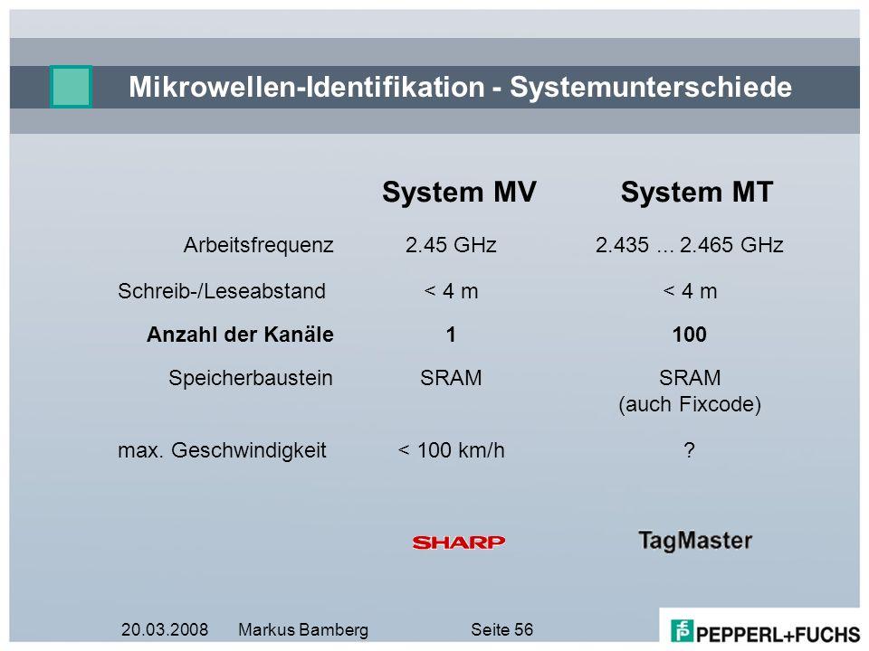 Mikrowellen-Identifikation - Systemunterschiede