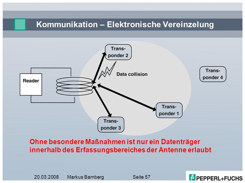 Kommunikation – Elektronische Vereinzelung