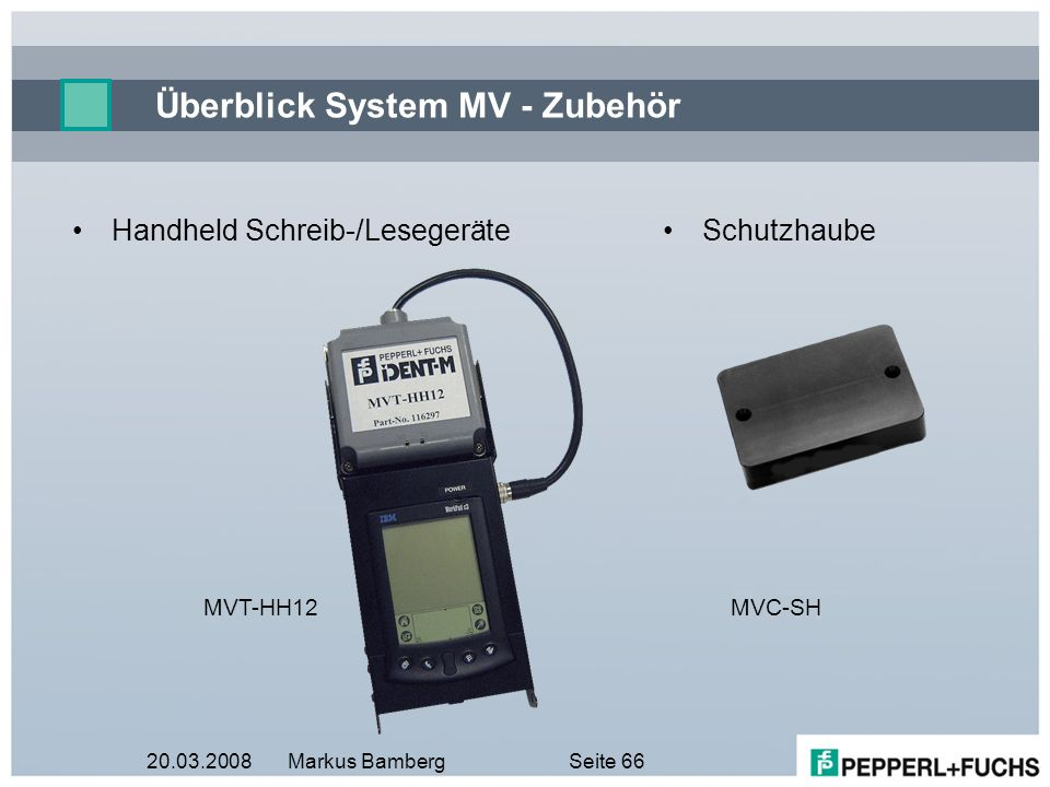 Überblick System MV - Zubehör