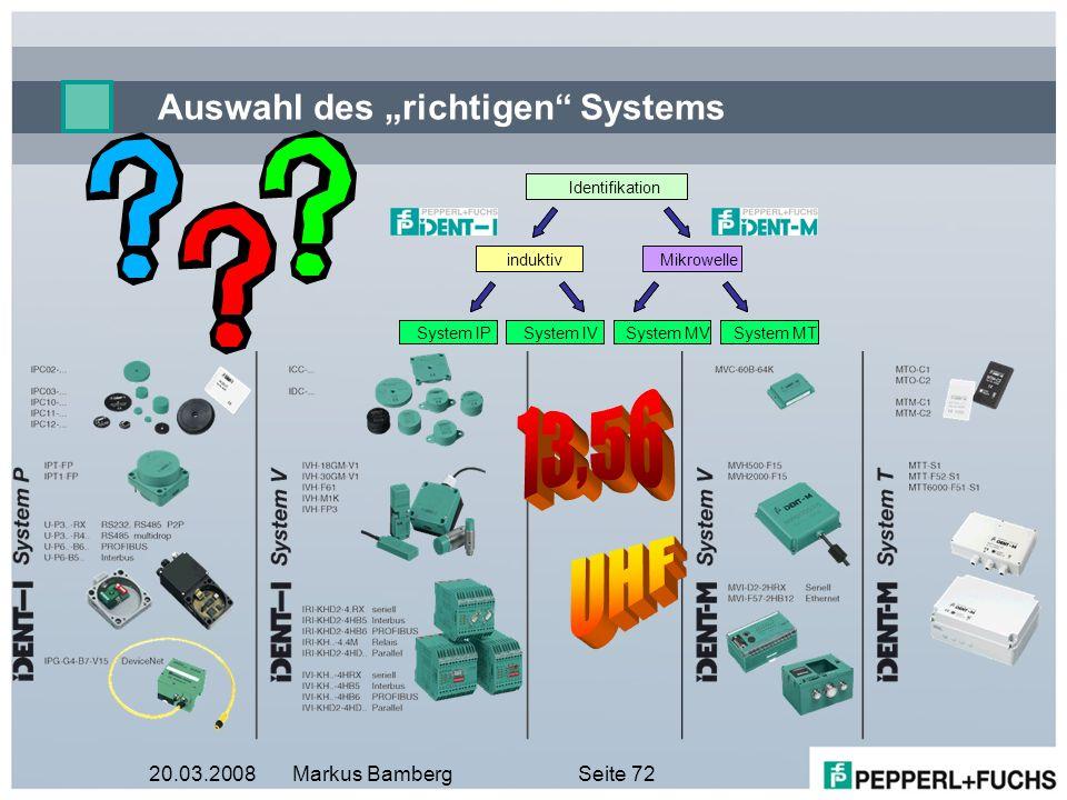 """Auswahl des """"richtigen Systems"""