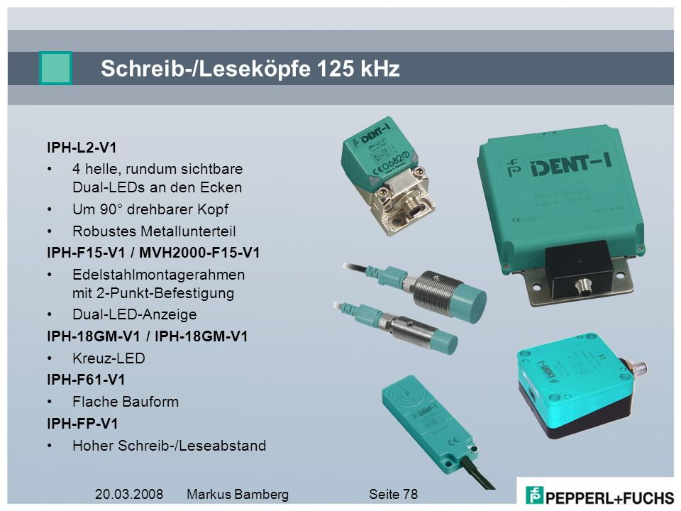 Schreib-/Leseköpfe 125 kHz