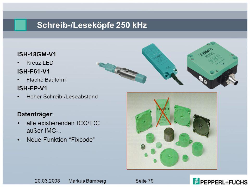 Schreib-/Leseköpfe 250 kHz