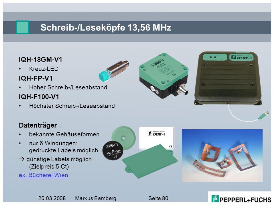 Schreib-/Leseköpfe 13,56 MHz
