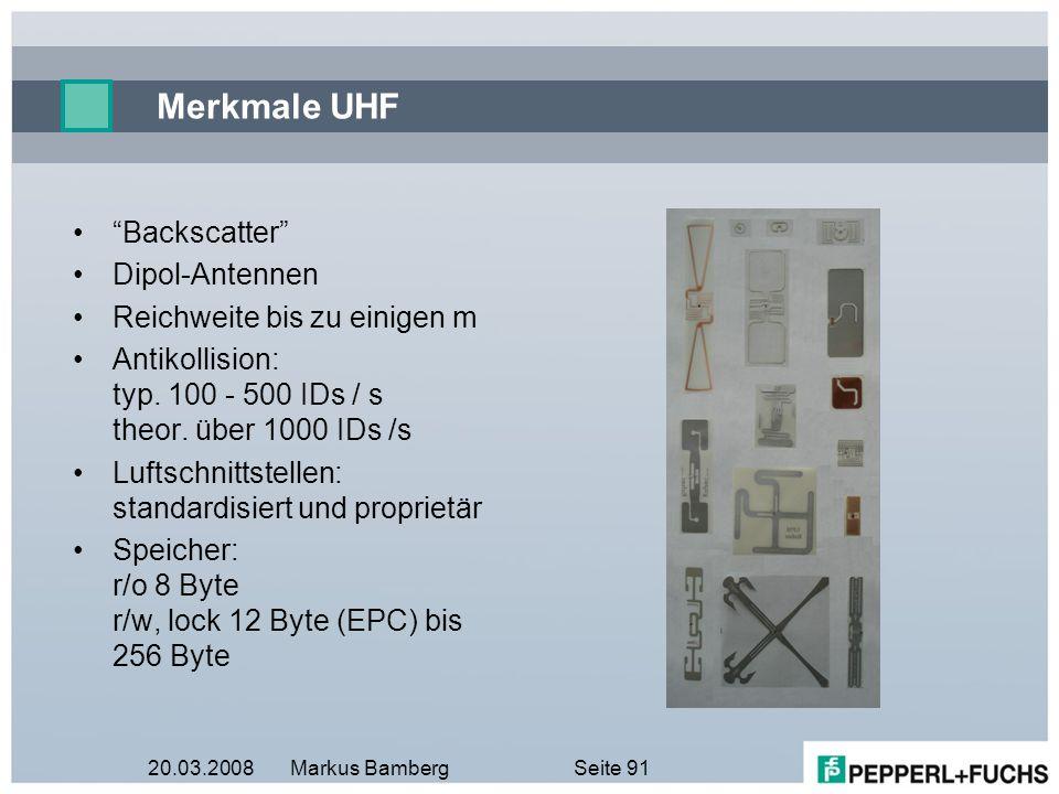 Merkmale UHF Backscatter Dipol-Antennen Reichweite bis zu einigen m