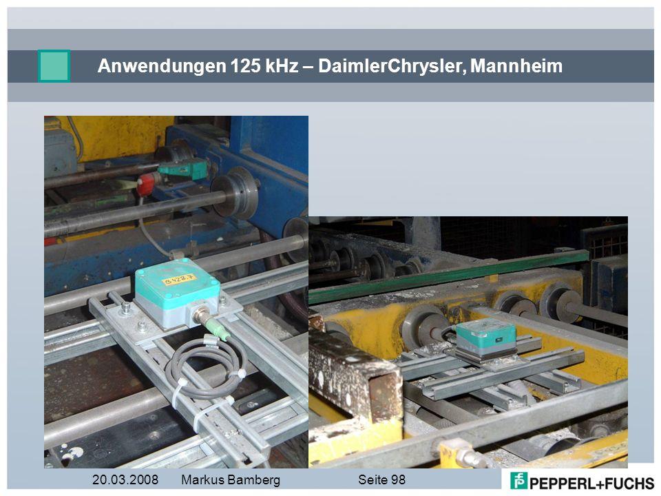 Anwendungen 125 kHz – DaimlerChrysler, Mannheim