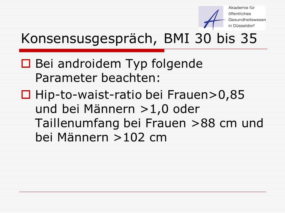 Konsensusgespräch, BMI 30 bis 35