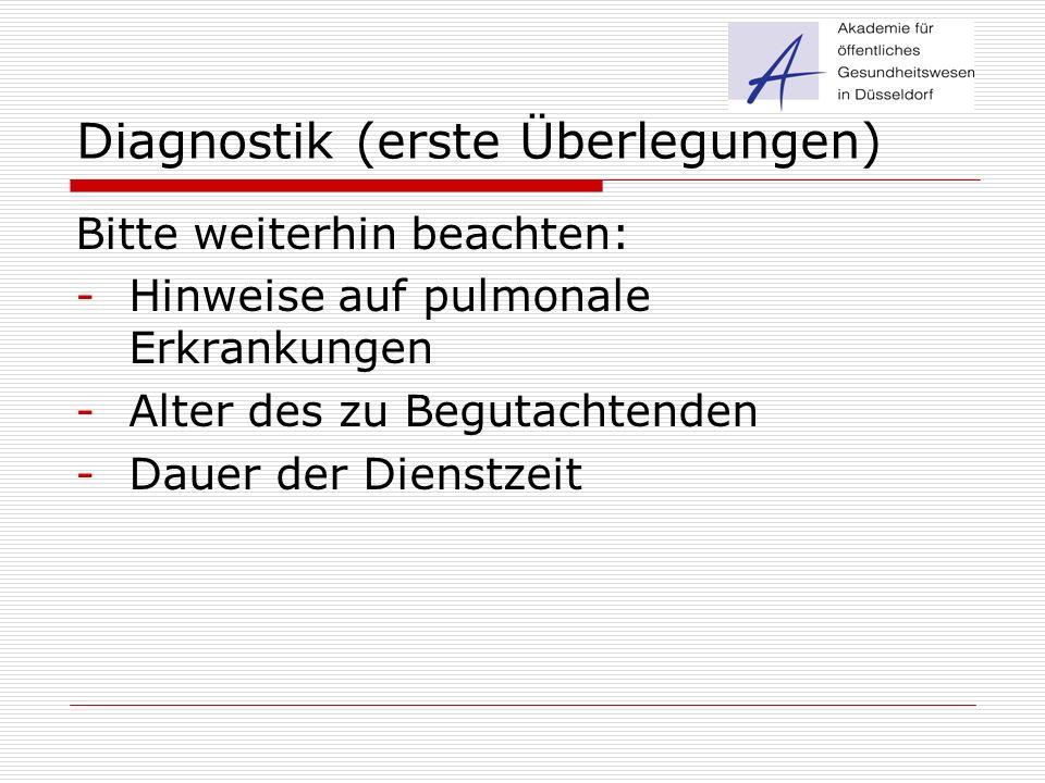 Diagnostik (erste Überlegungen)