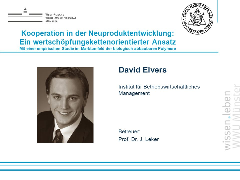 David Elvers Kooperation in der Neuproduktentwicklung: