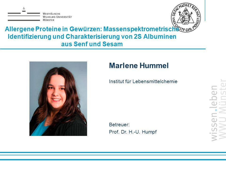 Allergene Proteine in Gewürzen: Massenspektrometrische Identifizierung und Charakterisierung von 2S Albuminen aus Senf und Sesam