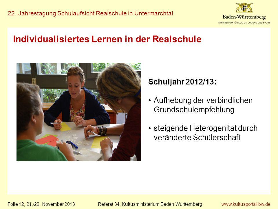 Individualisiertes Lernen in der Realschule