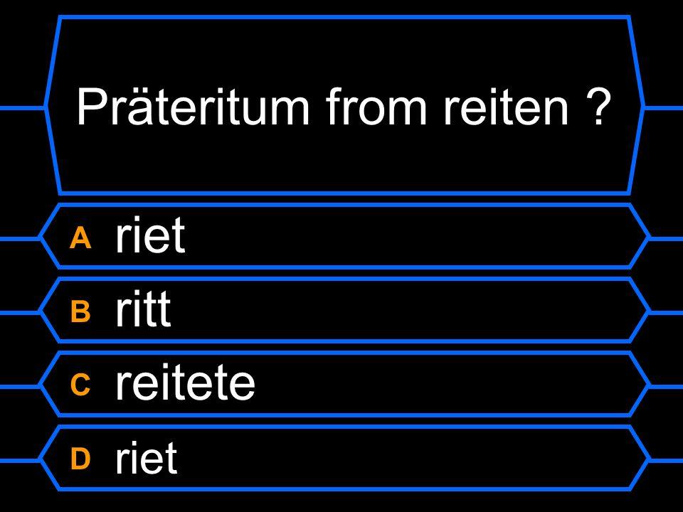 Präteritum from reiten