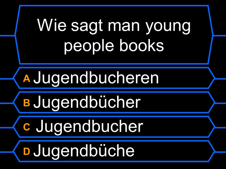Wie sagt man young people books