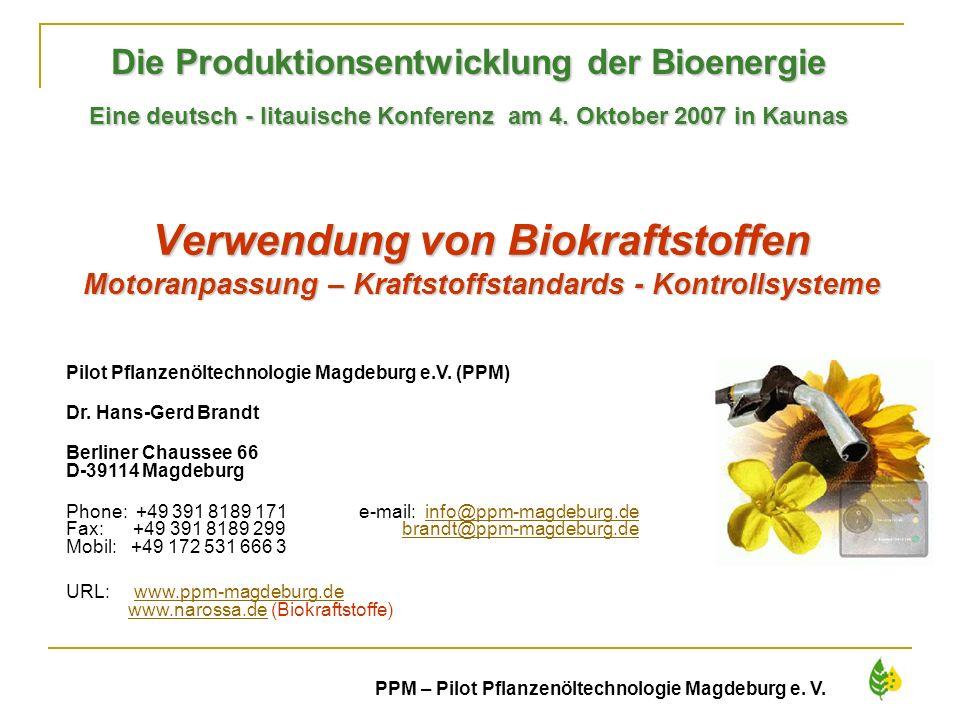 Die Produktionsentwicklung der Bioenergie