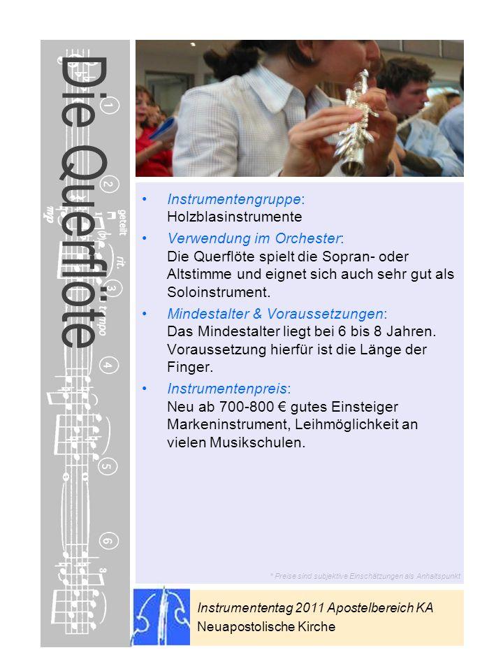Die Querflöte Instrumentengruppe: Holzblasinstrumente