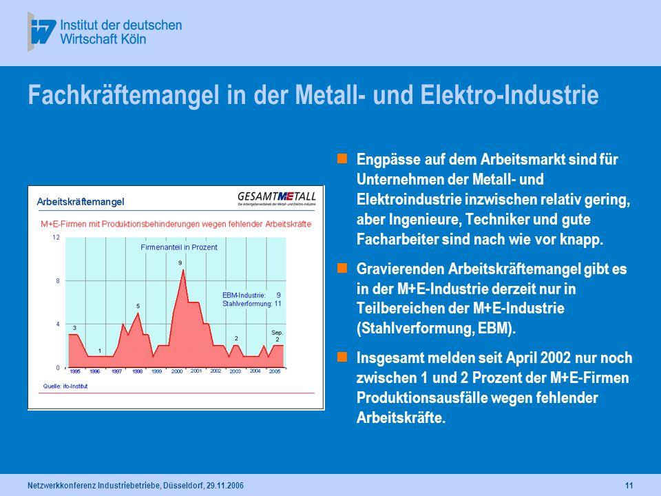 Fachkräftemangel in der Metall- und Elektro-Industrie