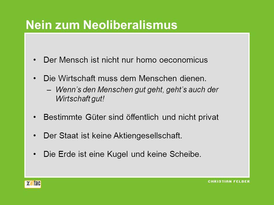 Nein zum Neoliberalismus