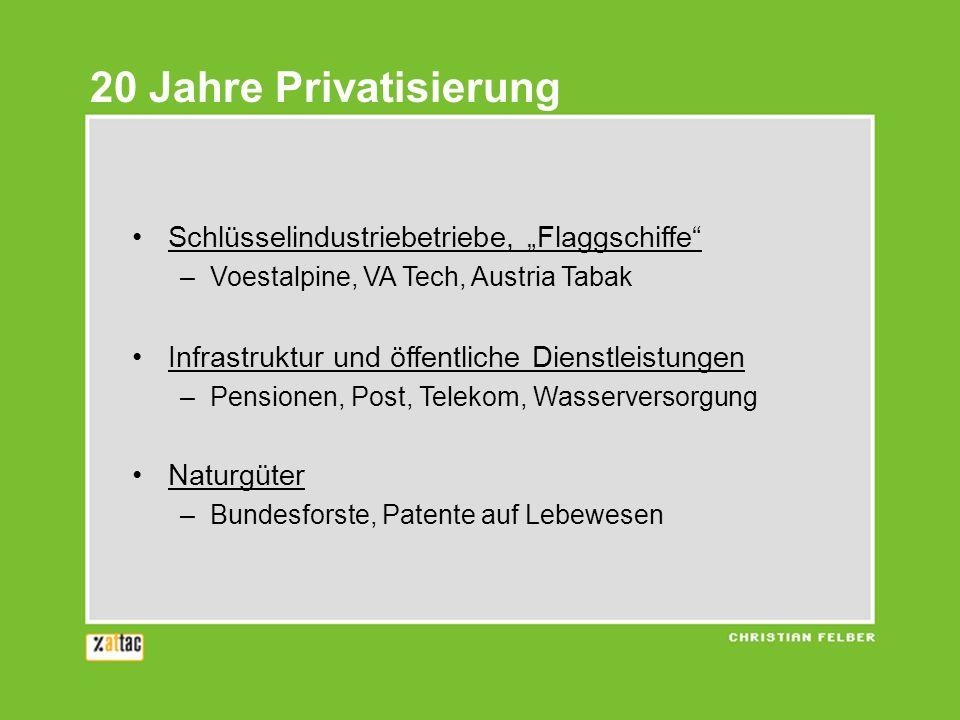 """20 Jahre Privatisierung Schlüsselindustriebetriebe, """"Flaggschiffe"""
