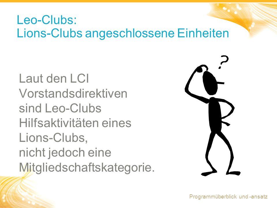 Leo-Clubs: Lions-Clubs angeschlossene Einheiten