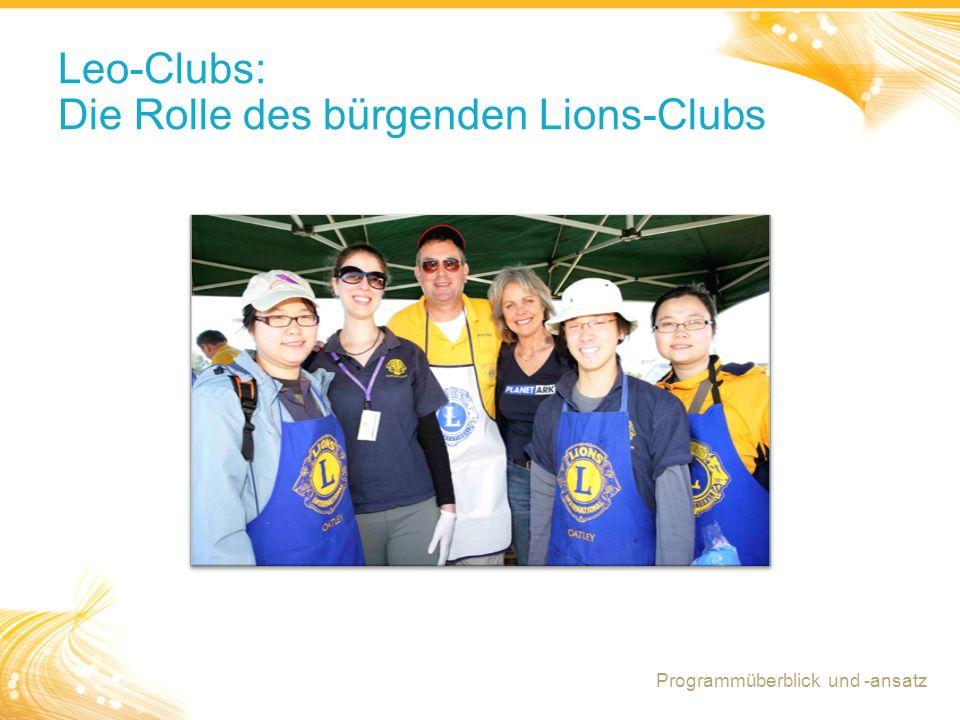 Leo-Clubs: Die Rolle des bürgenden Lions-Clubs