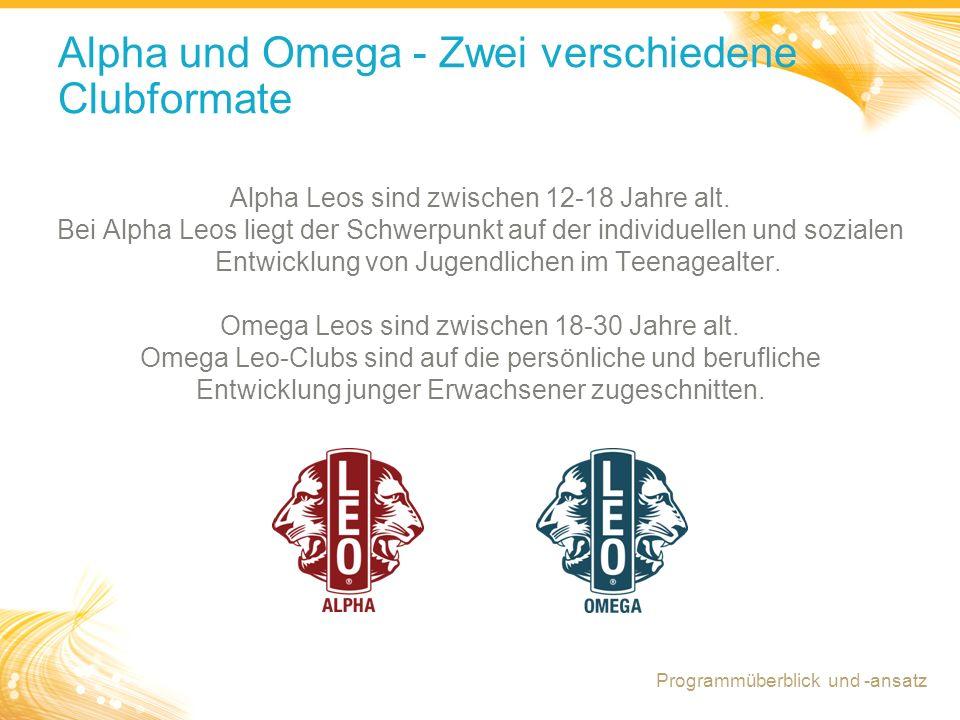 Alpha und Omega - Zwei verschiedene Clubformate