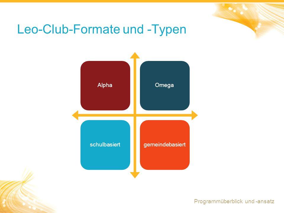Leo-Club-Formate und -Typen
