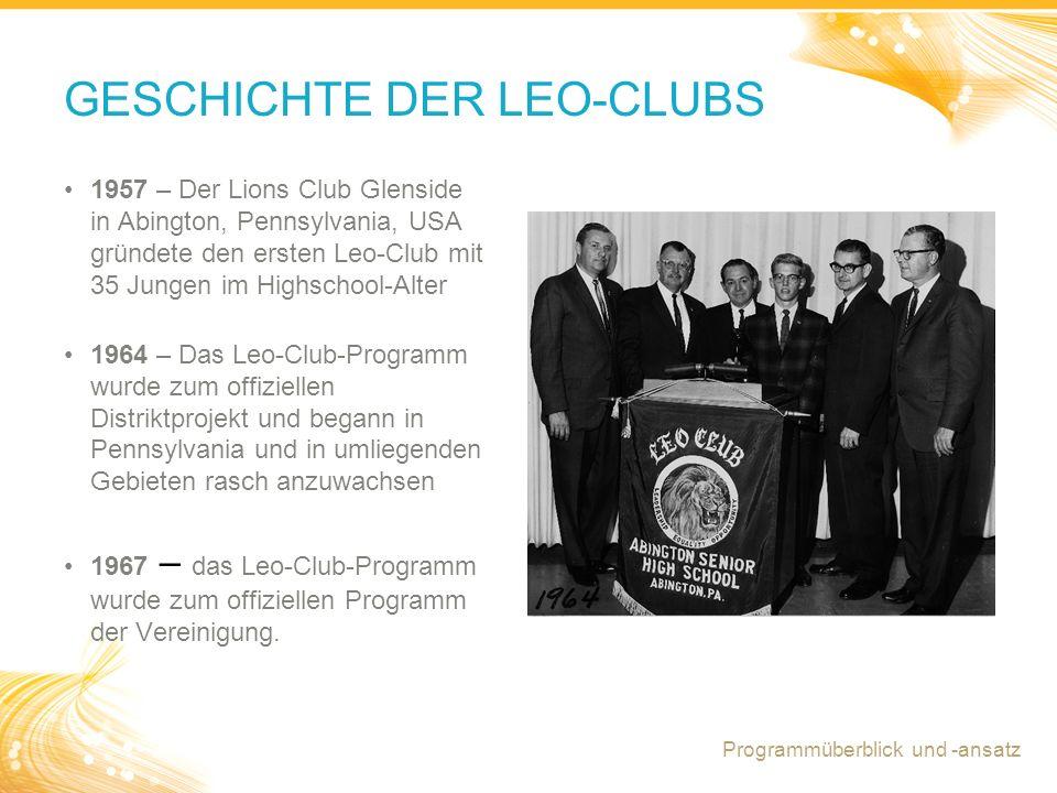 GESCHICHTE DER LEO-CLUBS