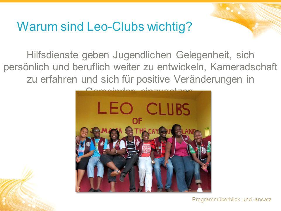 Warum sind Leo-Clubs wichtig