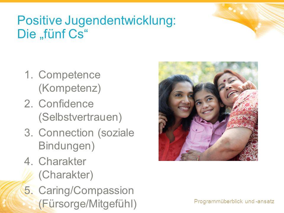 """Positive Jugendentwicklung: Die """"fünf Cs"""