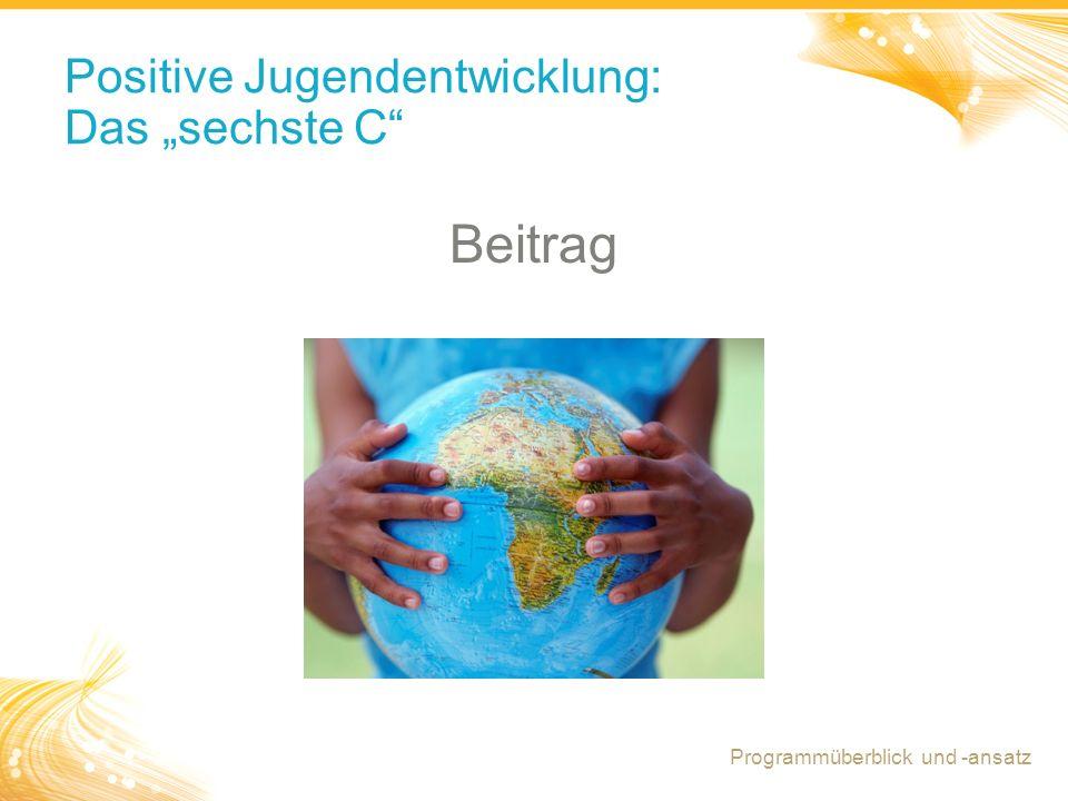 "Positive Jugendentwicklung: Das ""sechste C"