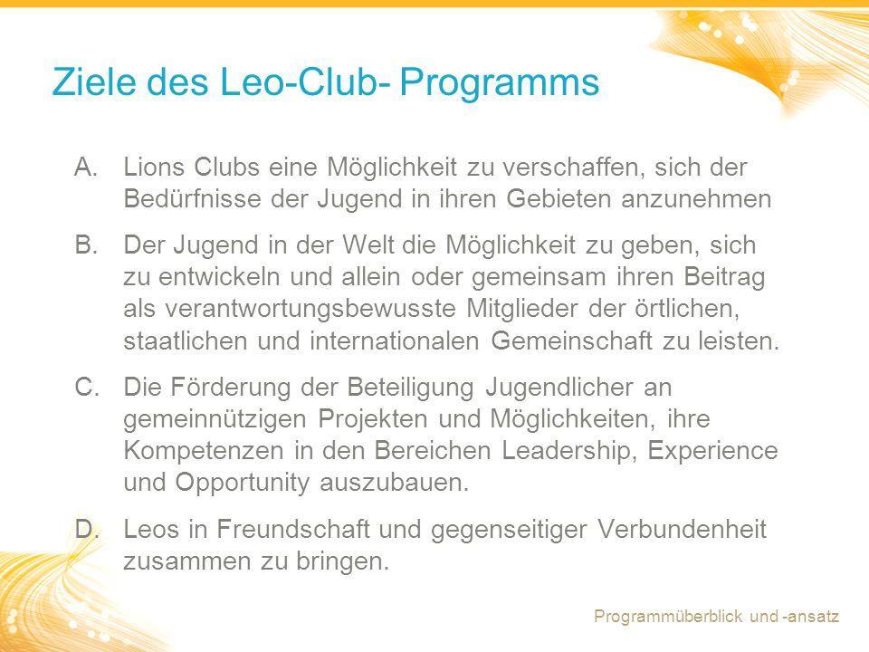 Ziele des Leo-Club- Programms