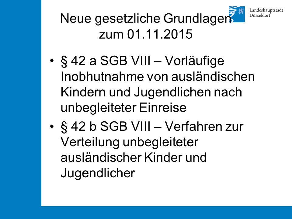 Neue gesetzliche Grundlagen zum 01.11.2015