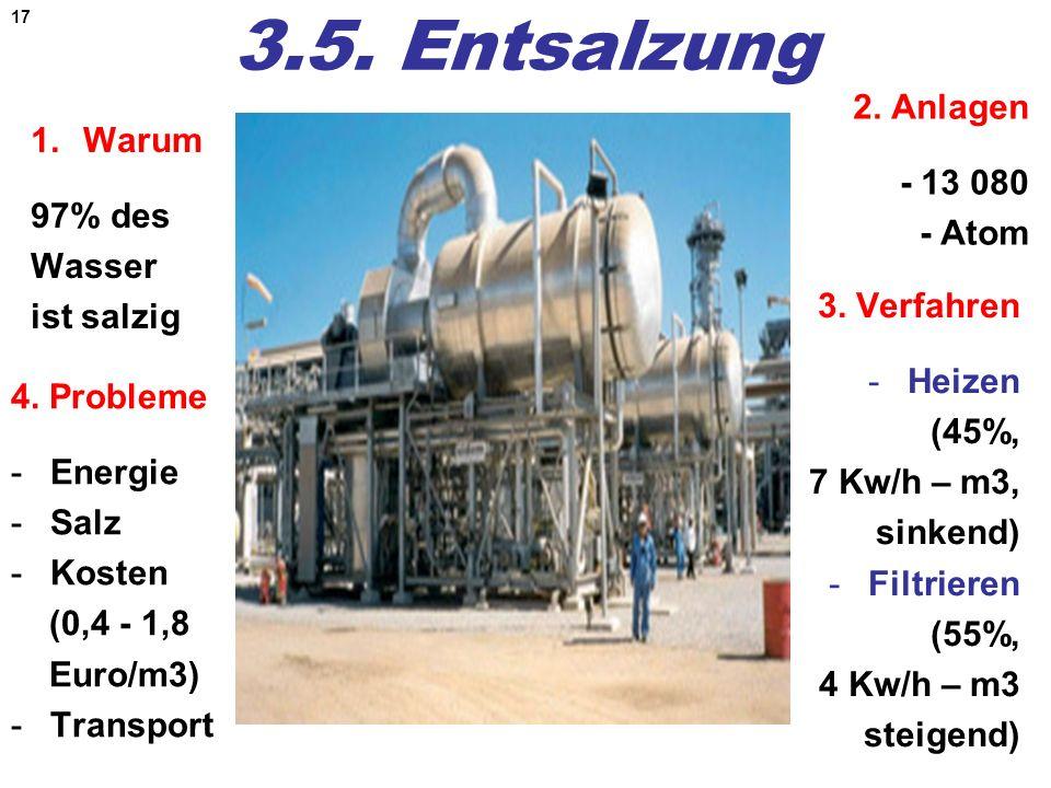 3.5. Entsalzung 2. Anlagen - 13 080 - Atom Warum 97% des Wasser