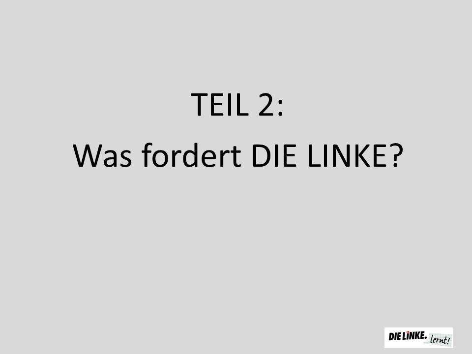 TEIL 2: Was fordert DIE LINKE