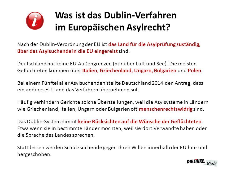 Was ist das Dublin-Verfahren im Europäischen Asylrecht