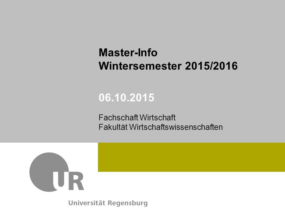 Master-Info Wintersemester 2015/2016 06.10.2015