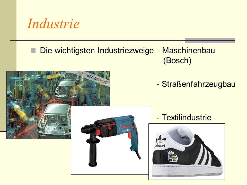 Industrie Die wichtigsten Industriezweige - Maschinenbau (Bosch)