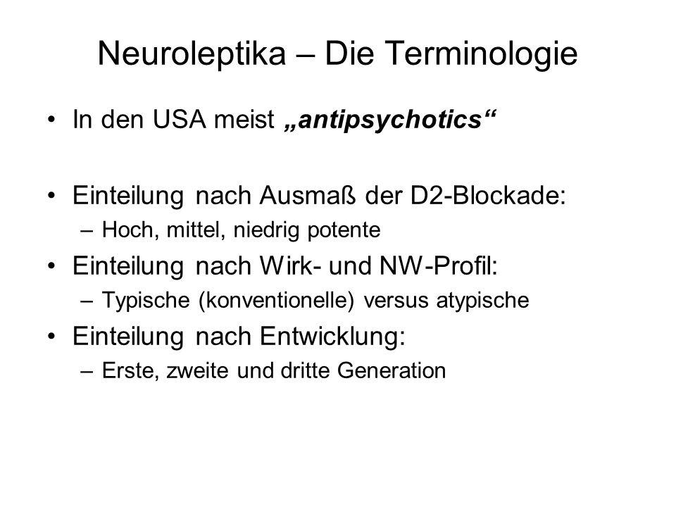 Neuroleptika – Die Terminologie