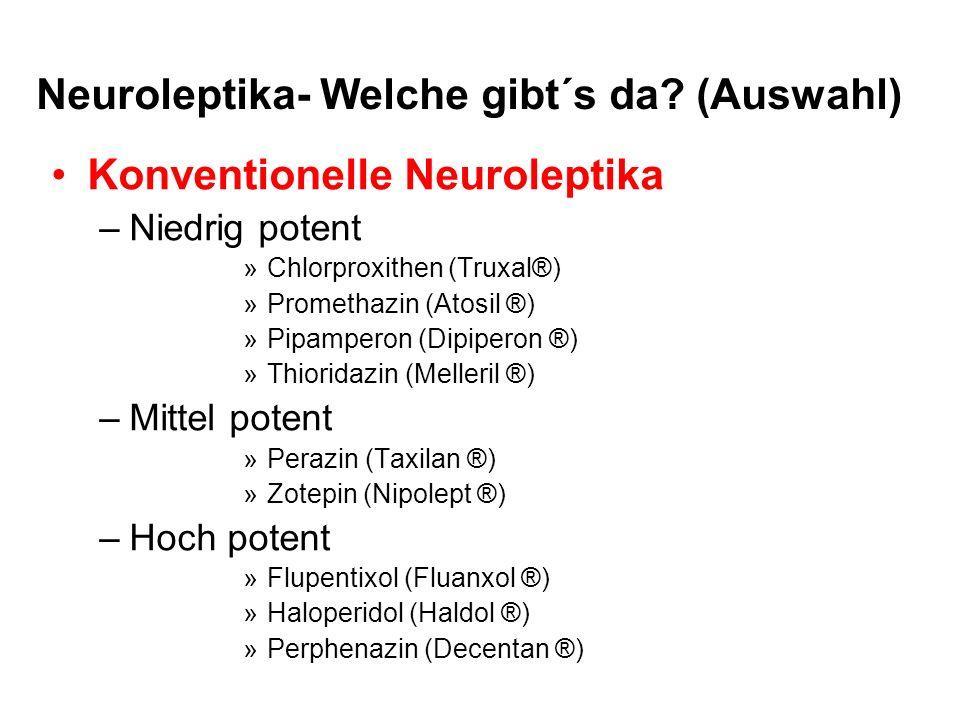 Neuroleptika- Welche gibt´s da (Auswahl)