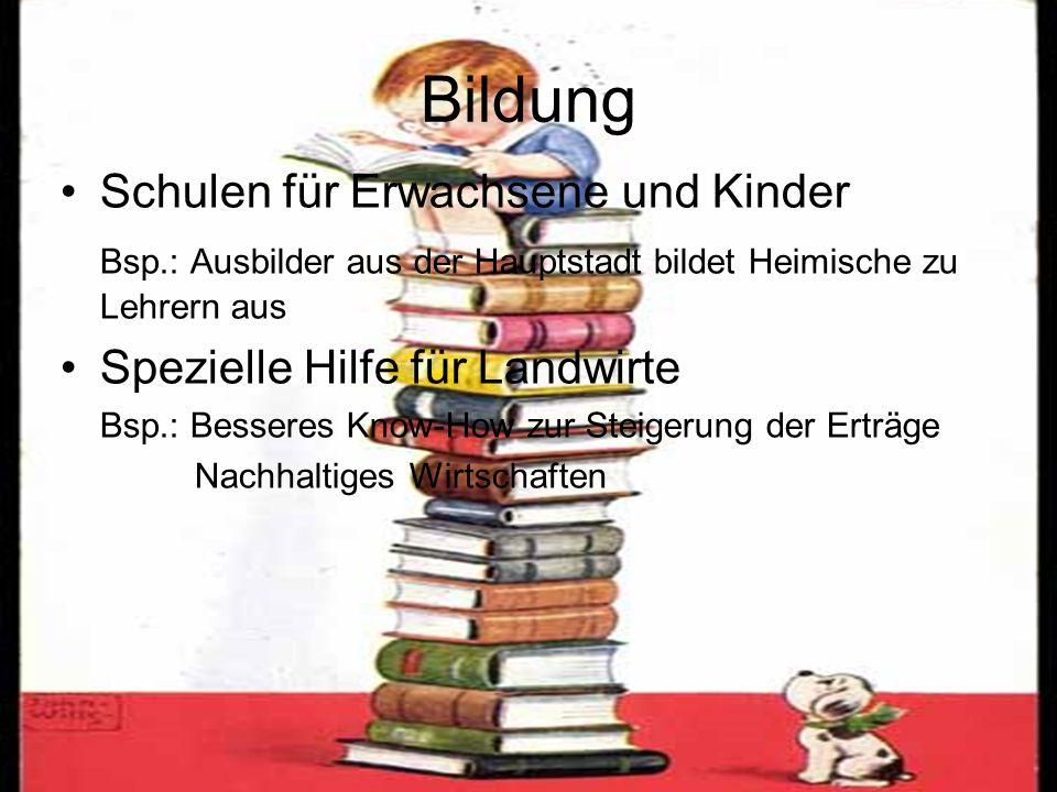 Bildung Schulen für Erwachsene und Kinder