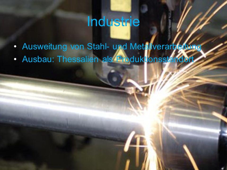 Industrie Ausweitung von Stahl- und Metallverarbeitung