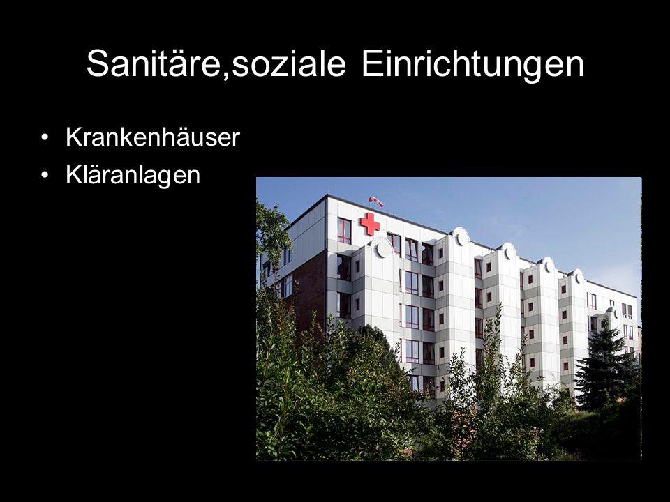 Sanitäre,soziale Einrichtungen