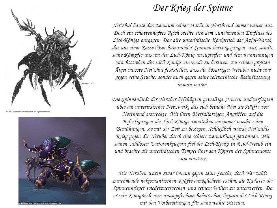 Der Krieg der Spinne Ner'zhul baute das Zentrum seiner Macht in Northrend immer weiter aus.