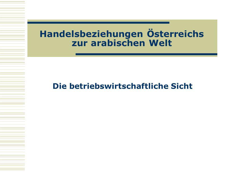 Handelsbeziehungen Österreichs zur arabischen Welt