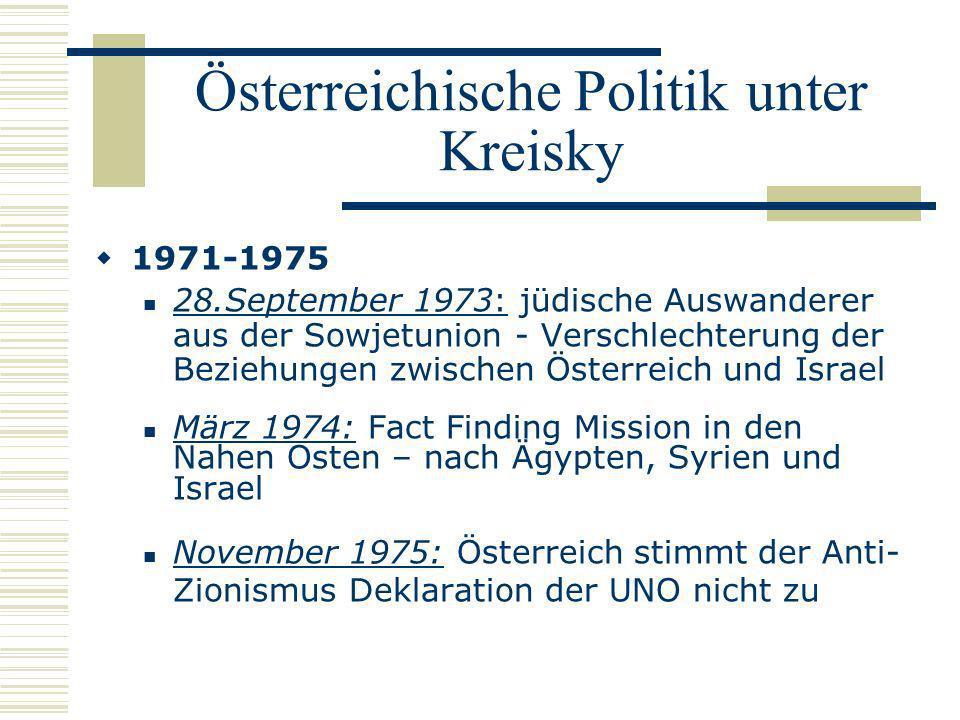 Österreichische Politik unter Kreisky